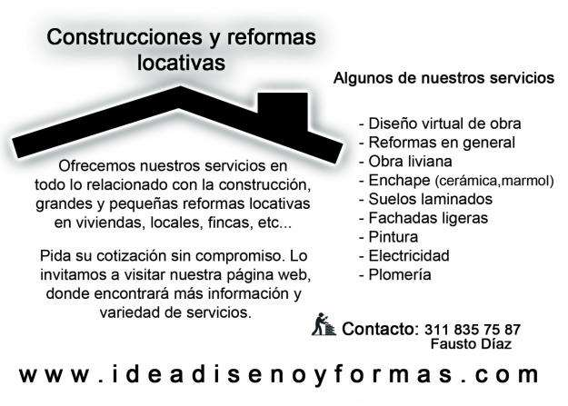 reparaciones locativas manizales ,viviendas .locales .fincas