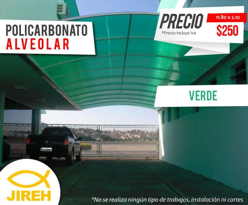 Policarbonato Jireh Verde 8mm en Quito, Techos, Alucobond, Acrílico, Cielo raso PVC