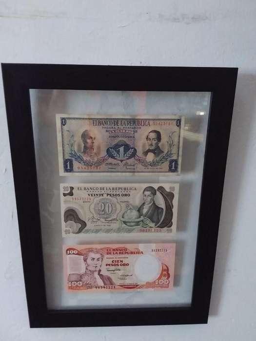 Cuadro Billetes Antiguos