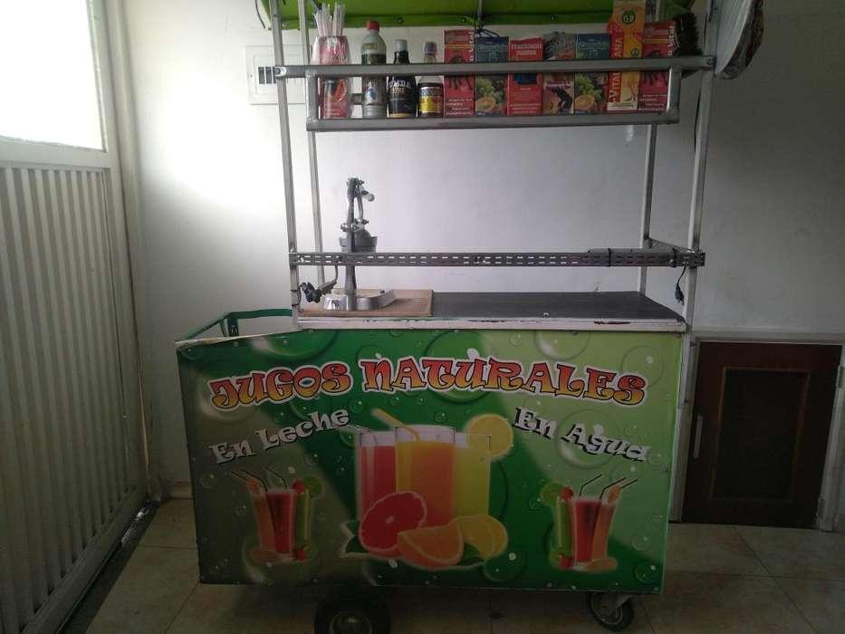 Se vende carro de jugos por motivo de vieje