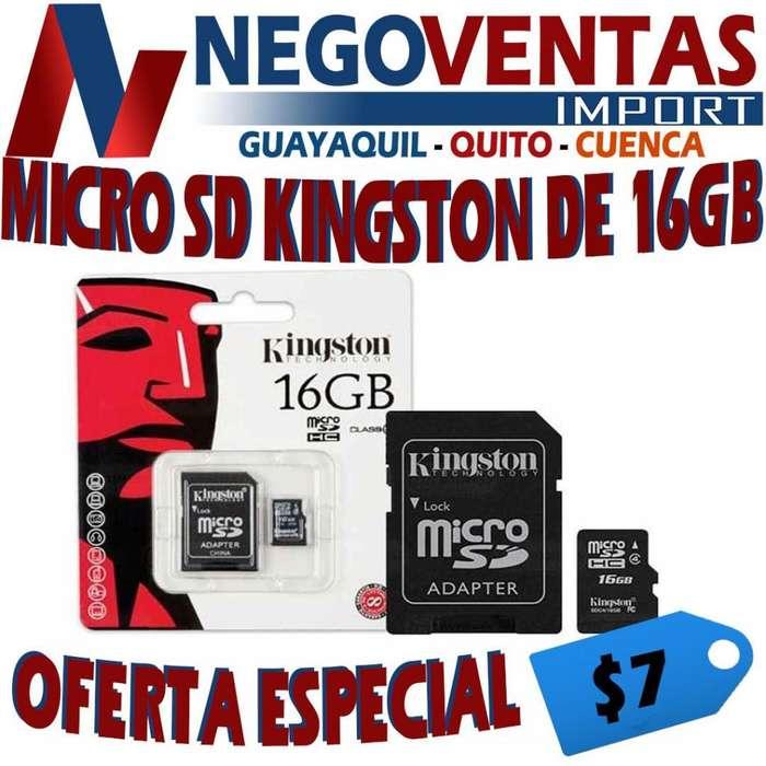 MICRO SD KINNGSTON DE 16 GB TARJETA DE MEMORIA