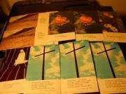 lote 14 tarjetas religiosas trapenses hinojo