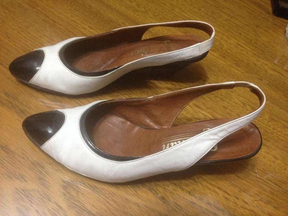 Sandalias Mujer Colores Blanco Y Negro PLANTILLA DE 23CM