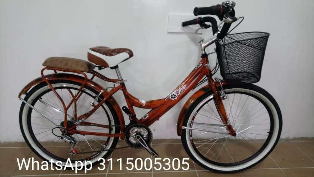 Bicicleta Playera Rin 26 Dama