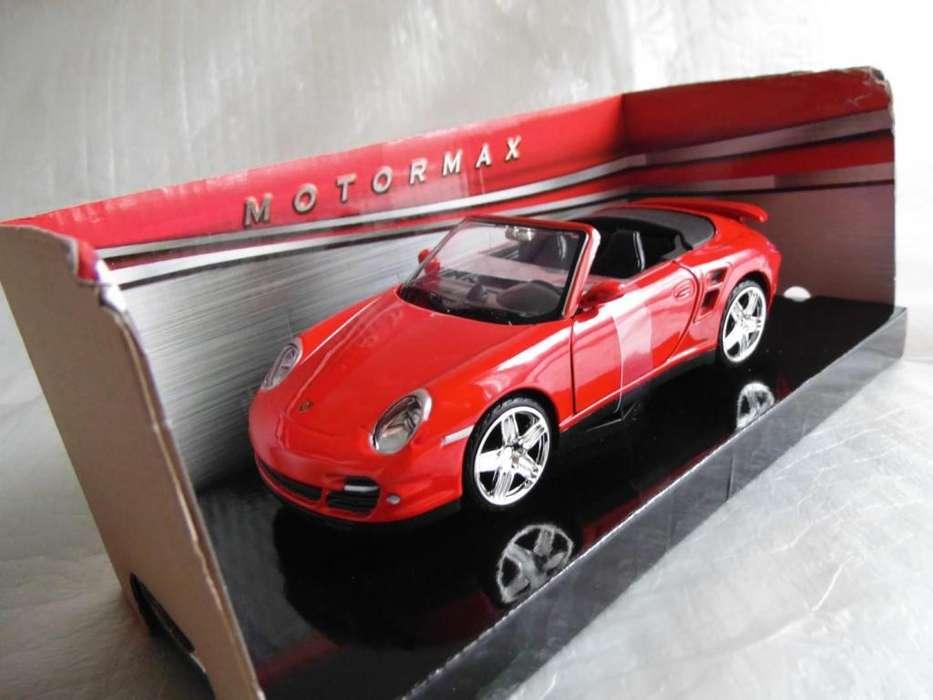 Porsche 911 turbo cabriolet escala 1:24 carro coleccion metalico