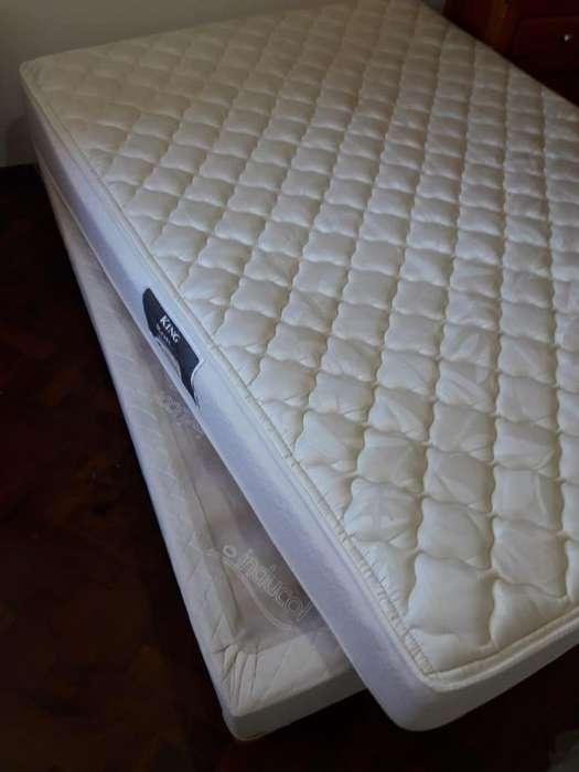 Sommier con colchón 2plazas