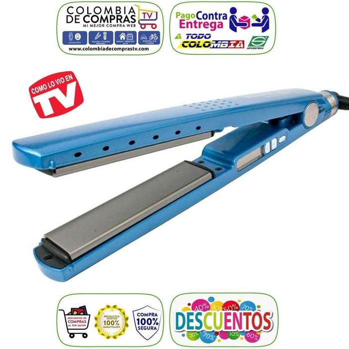 Plancha Cabello TV Profesional Nano Titanium Digital 450ºF, en Titanio, Nuevas, Garantizadas