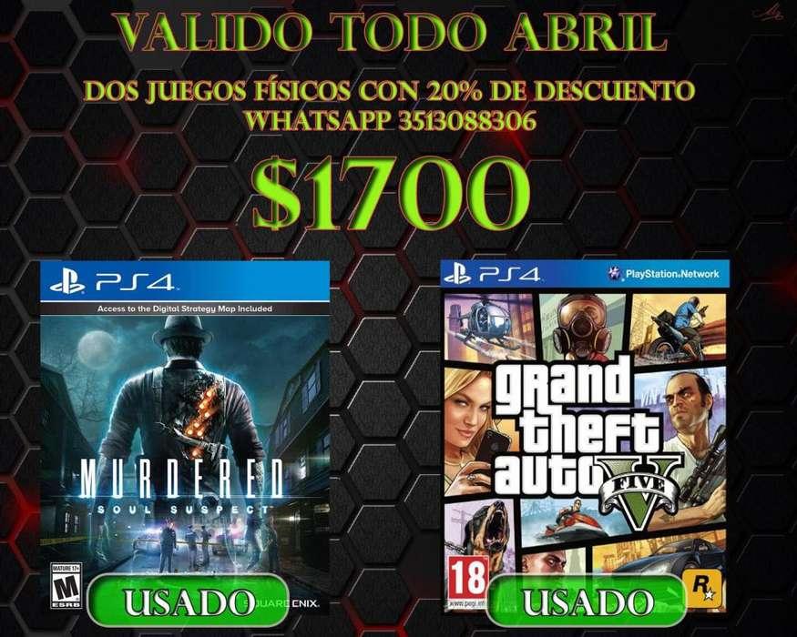 Murdered y GTA V Playstation 4