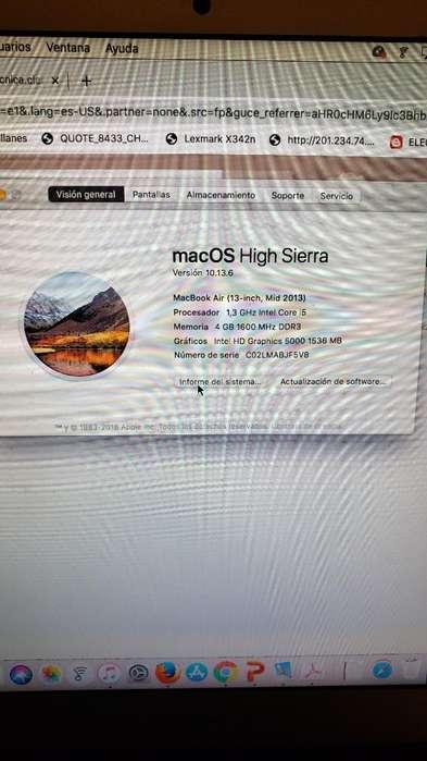 Vendo Portatil Macbook Air 13' Mid 2013
