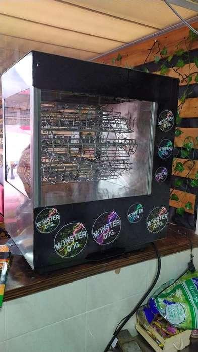 Carrusel de Salchichas Maquina Hot Dogs