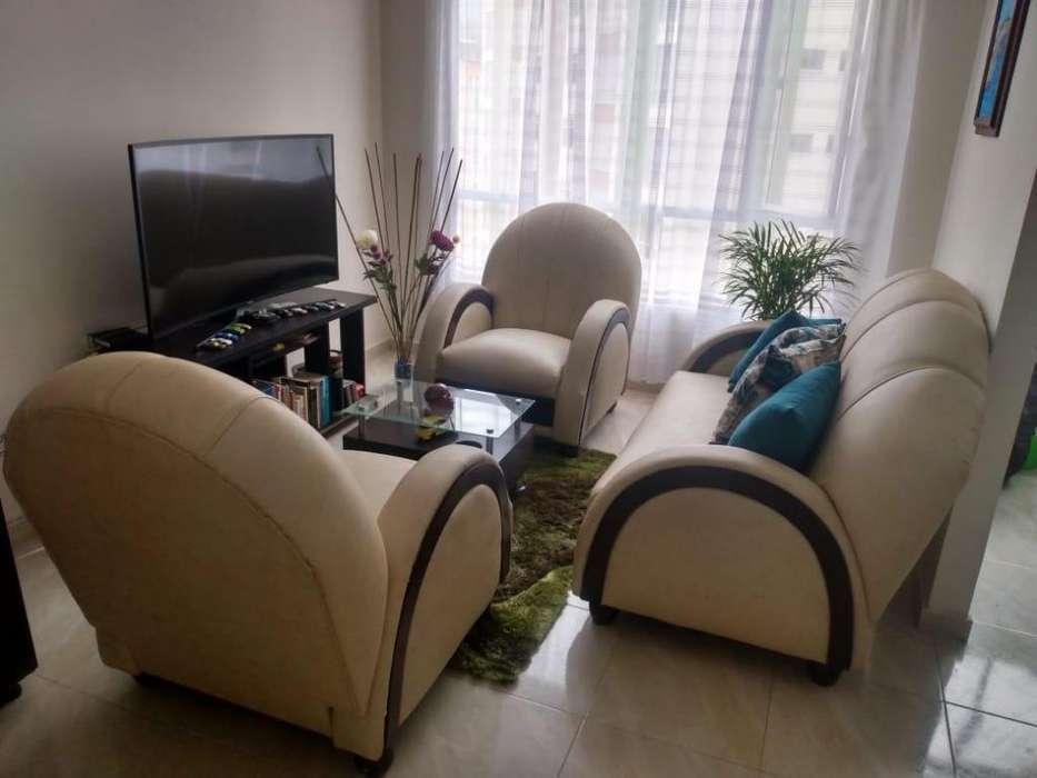 Juego De Sala, Sofa 2 Puestos, Y 3 Muebles Individuales