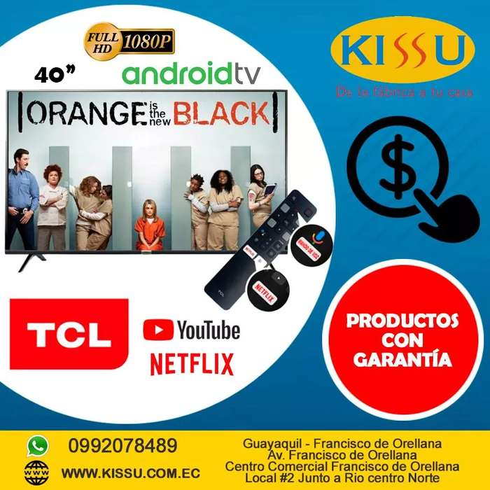 TV TCL 40 L40S6500FS ANDROID TV FULL HD HDR BLUETOOTH MANDO VOZ