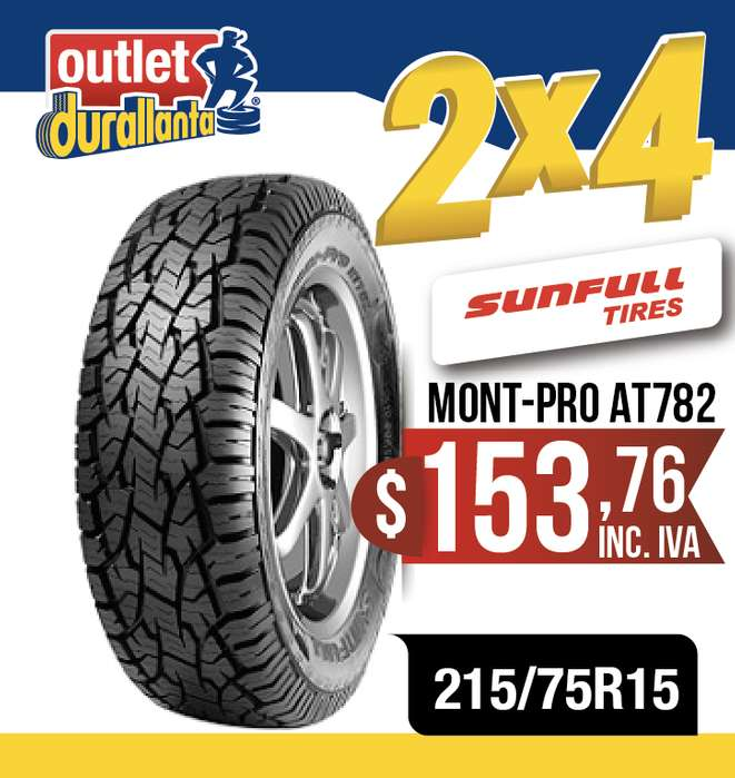 <strong>llanta</strong>S 215/75R15 SUNFULL MONT-PRO AT782 BT-50 WINGLEDEER SAILOR