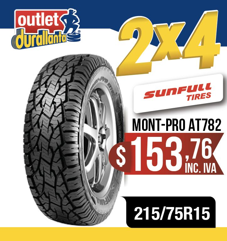 LLANTAS 215/75R15 SUNFULL MONT-PRO AT782 BT-50  WINGLEDEER SAILOR