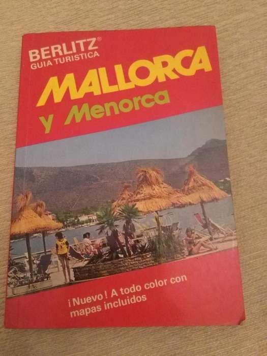 GUIA TURISTICA BERLITZ MALLORCA Y MENORCA ESPAÑA 1976