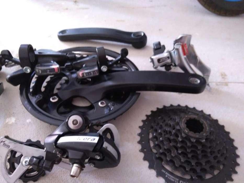 Kit de frenos, cambios y otras partes.