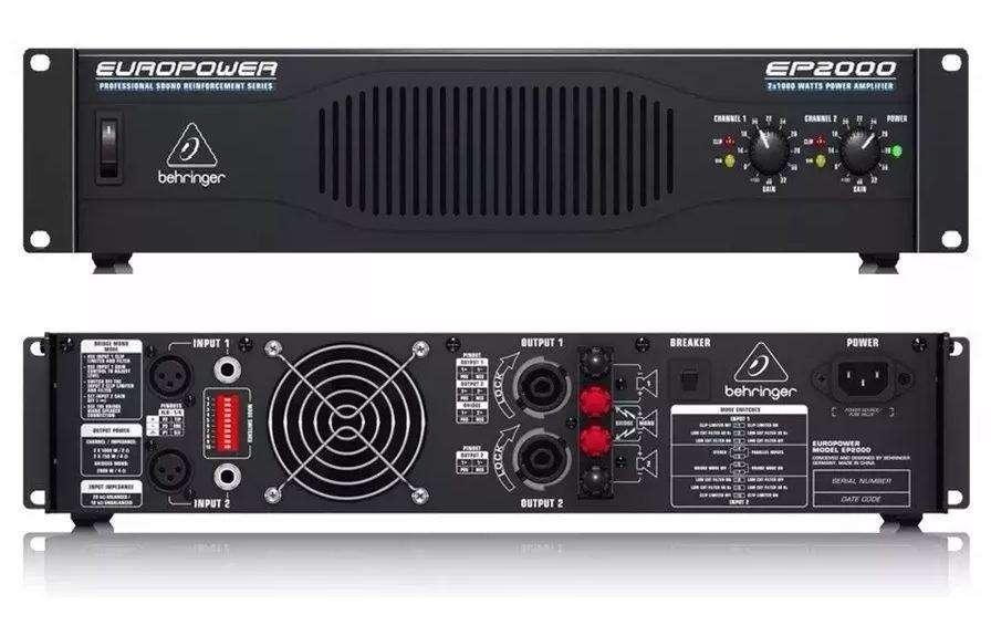 Power Amplificador Behringer Ep2000