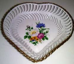 Centro de mesa porcelana, forma corazón ClujNapoca Romania