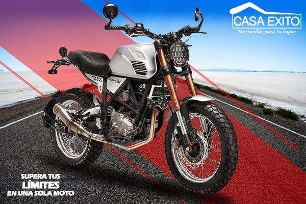 Moto Daytona Scrambler 250cc Año 2019 Color Plateado / Negro Casa Éxito