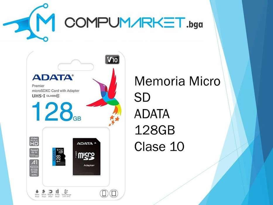 Memoria micro sd ADATA 128gb clase 10 nuevo y facturado
