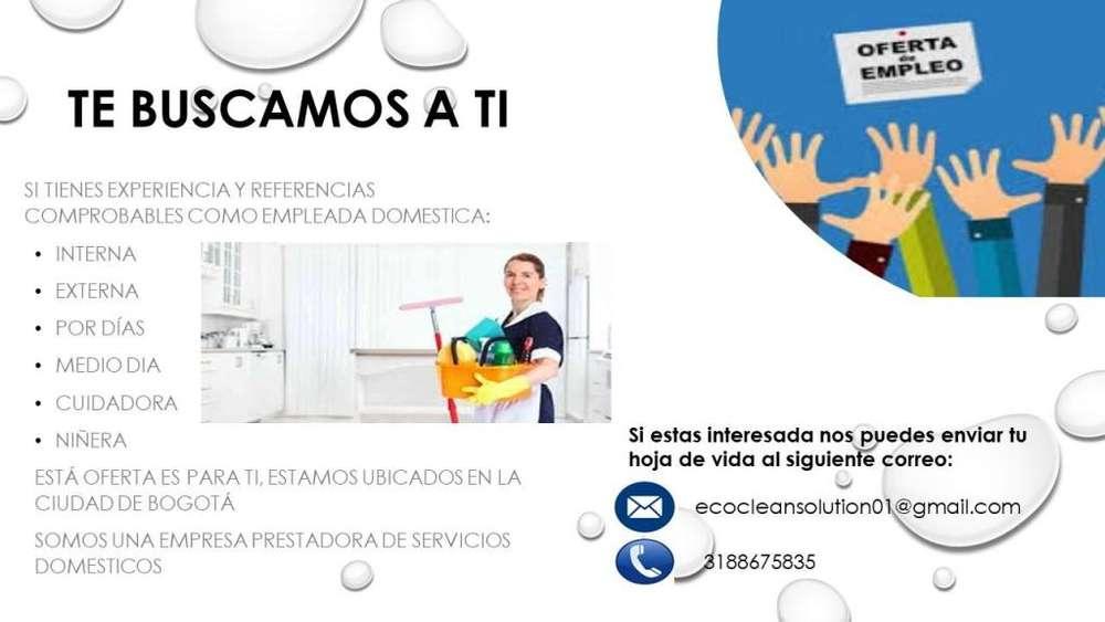 SE REQUIEREN EMPLEADAS DE SERVICIO DOMESTICO INTERNAS