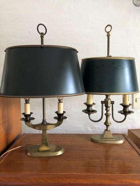 Lámparas de mesa inglesas de 2 velas perfecto estado.
