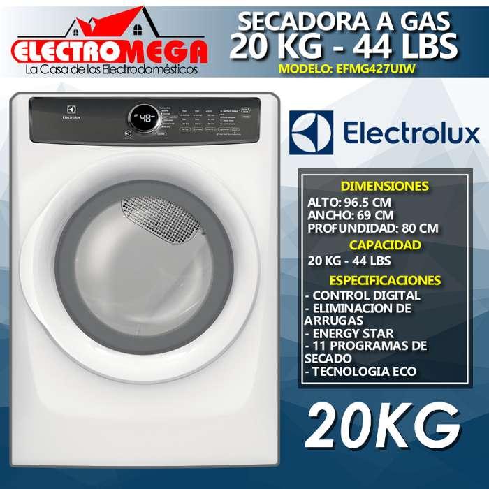 <strong>secadora</strong> A Gas 110v Electrolux 20kg 44lbs Blanca Efme427uiw
