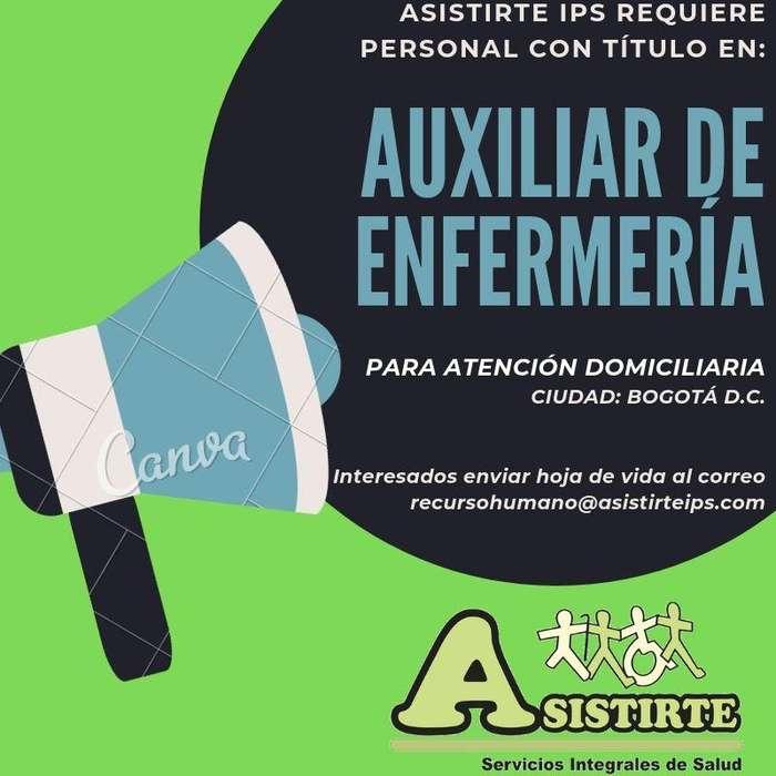 <strong>auxiliar</strong> de enfermería Domiciliaria