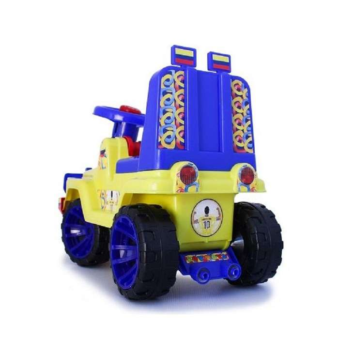 Carro Montable Juguete Jeep Niño Paseador Caminador Infantil Amarillo