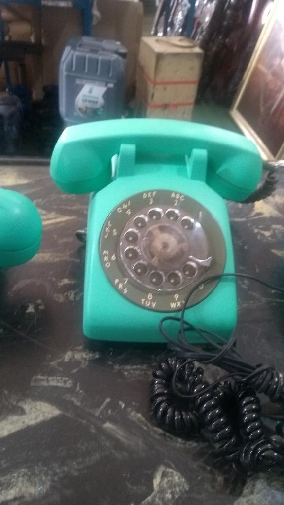 Teléfonos Decoración Retro Años 70
