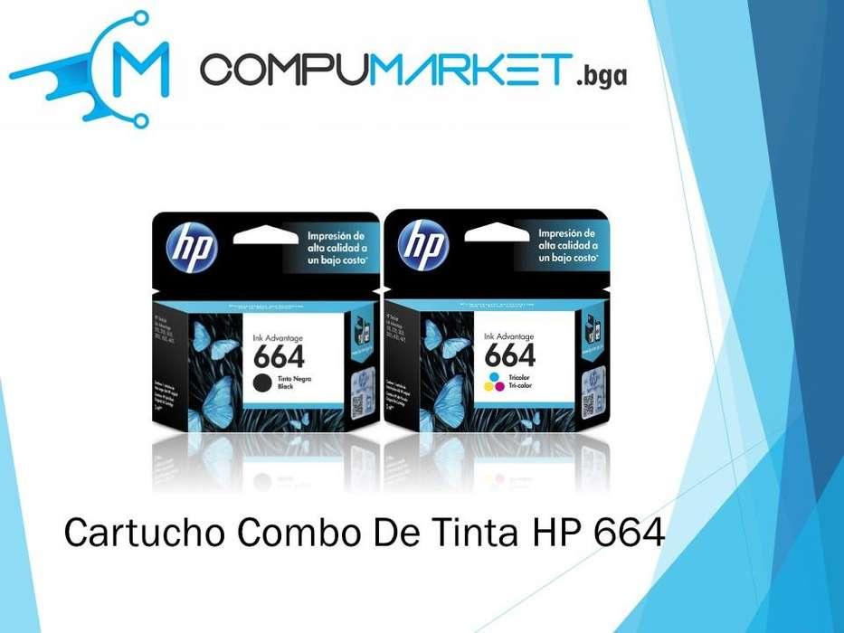 Cartucho combo HP 664 100% original nuevo y facturado