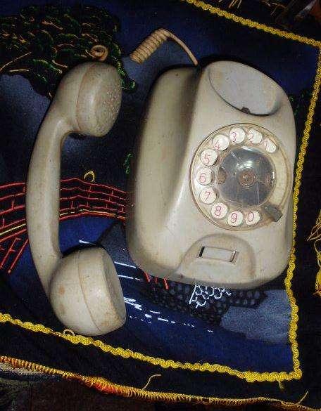 ANTIGUO TELEFONO A DISCO TUBO TRANSVERSAL