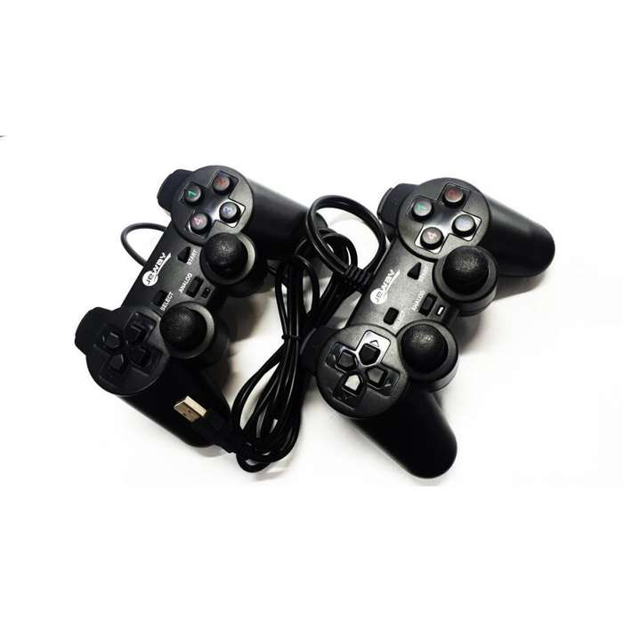 Doble Control Gamepad Para Pc Analogo Usb Con Vibracion