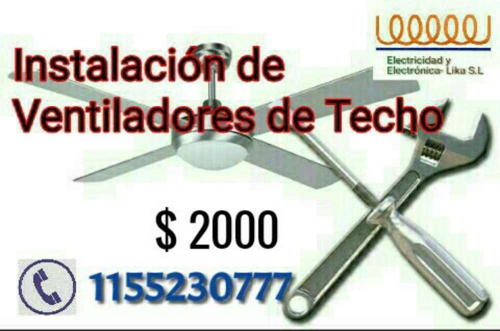 Instalacion de Ventiladores de Techo.