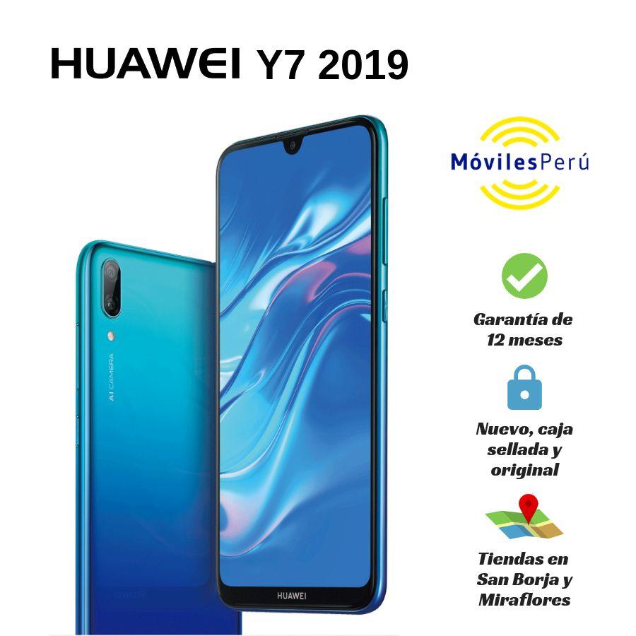 HUAWEI Y7 2019 32 GB NUEVO, CAJA SELLADA, GARANTÍA DE 12 MESES, TIENDAS FÍSICAS