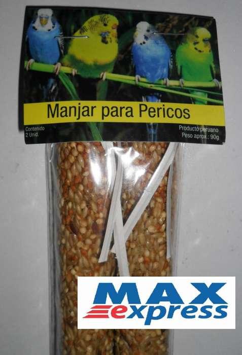Alimento Manjar para Pericos Canario Agapornis X2 Unid. 90gramos