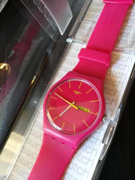 Reloj Swatch Original Fucsia sin Pila