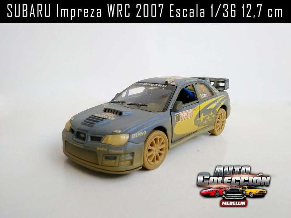 Auto de Colección Subaru Impreza WRC 2007 Escala 1/36 12,7 cm
