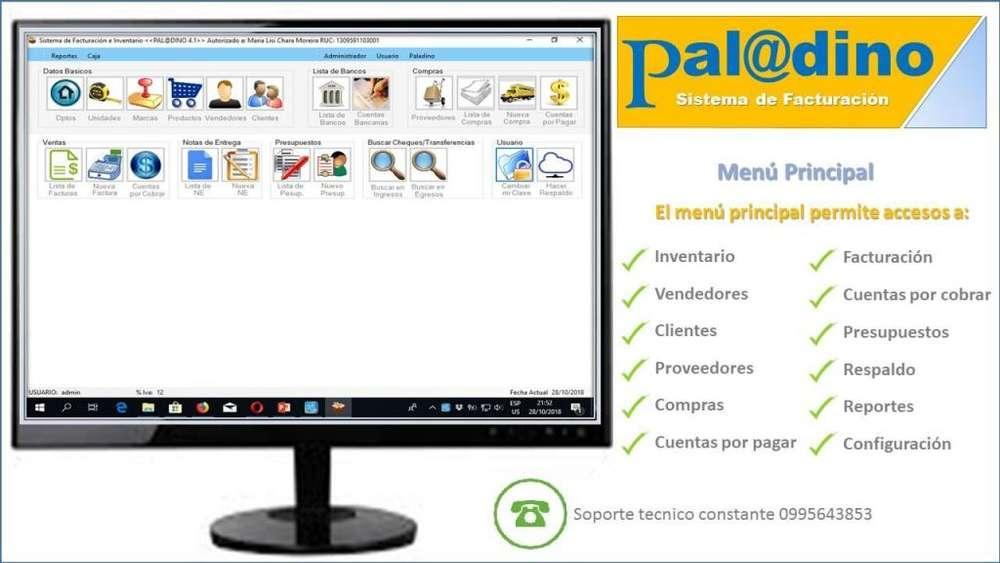SOFTWARE PROGRAMA SISTEMA DE FACTURACION PALADINO