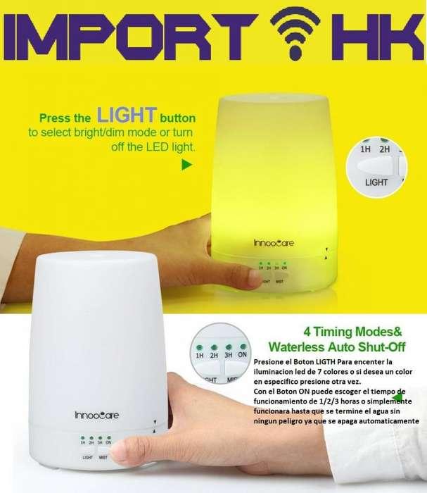 Humidificador Difusor Aroma Esencias Luz Led 7 Colores Spa