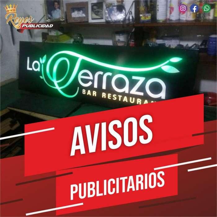AVISOS EN ACRILICO VIDRIO LUMINOSOS BACKING BANNER ESTRUCTURAS PENDONES CALI PUBLICIDAD IMPREIONES VINILOS DISEÑO