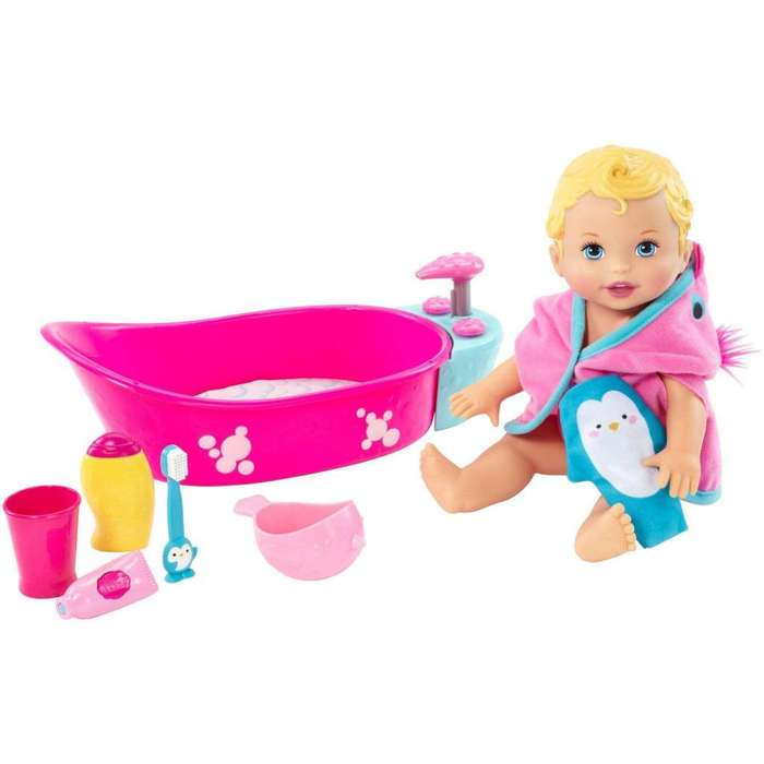 Little Mommy Bubbly Bathtime Deluxe Baby Doll Playset