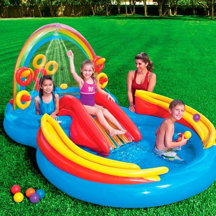VENDO NUEVA!!!Piscina infantil con resbaladero y regadera