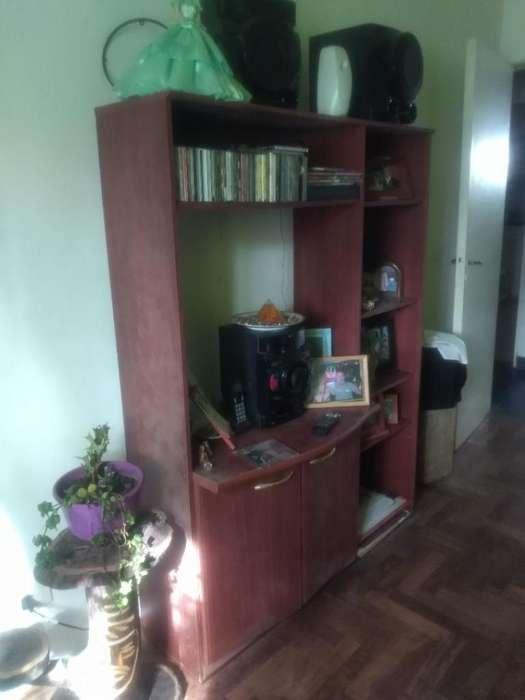 Modular con dos puertas y cinco estantes