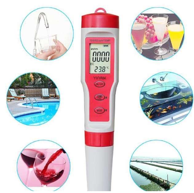 Medidor de pH / TDS / CE / TEMP – 4 en 1.