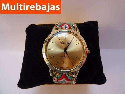 Elegante Reloj Para Mujer Reloj Geneva Platinum multirebajas