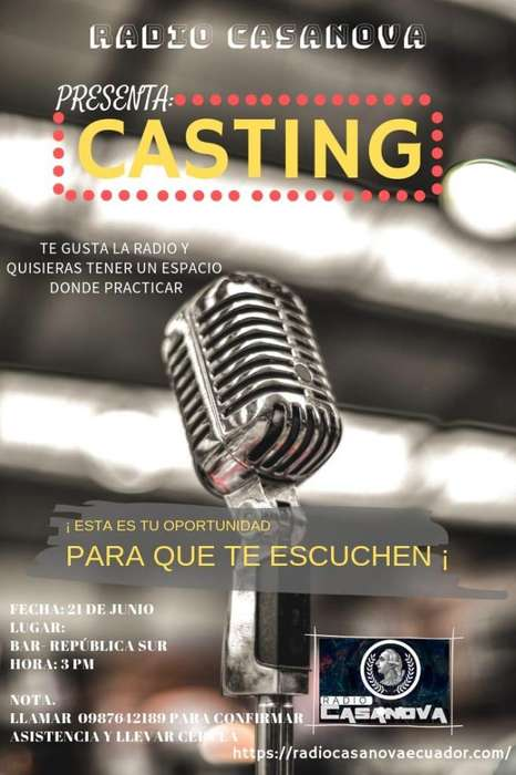 Gran Casting Para Locutores en Cuenca
