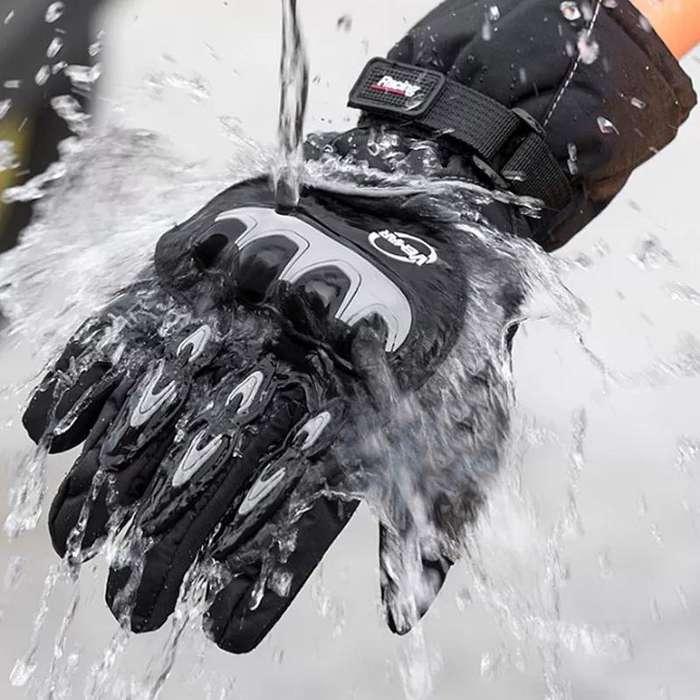 Guantes Impermeables Moto Protección Marca Axe Racing