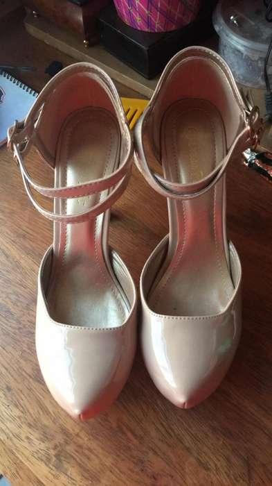 Zapatos Tacos Nude 38-39
