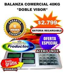 Balanza Digital 40 Kg D/Visor Teclado Acero Inox. GARANTÍA 6 MESES